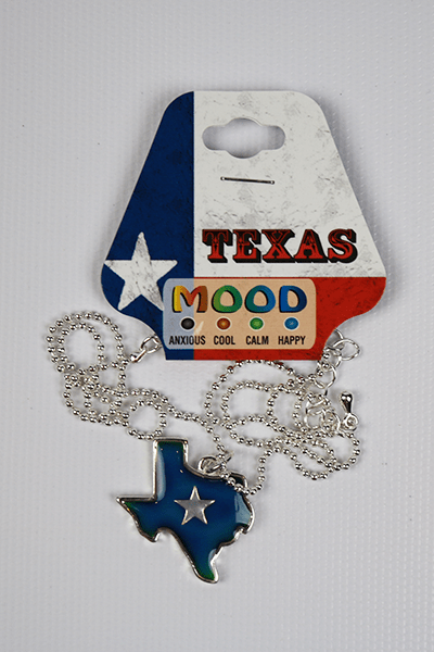 Texas Shaped Mood Necklace