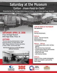 Cotton Lecture flyer