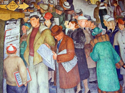 city life by victor arnautoff, at san francisco's coit tower