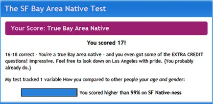 san francisco bay area native quiz results