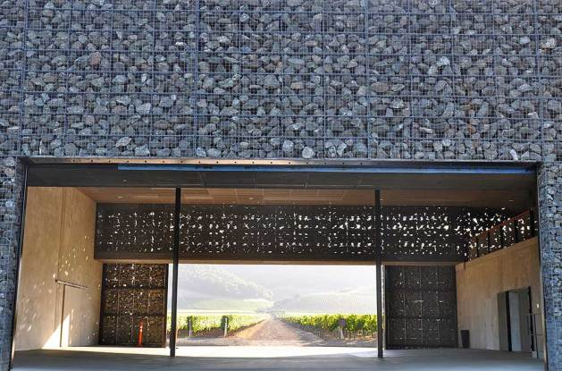 Dominus Winery, Napa Valley. Design by Herzog & De Meuron. Photo by Sarah Ackerman.