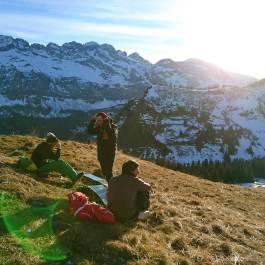 Après ride dans les champs #frisek #snowboard #greenmas
