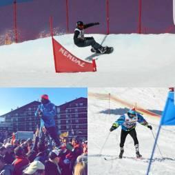 Our man @moussafrisek taking it to the next level at #ssh2017 ! #frisek #snowboard #nendaz #swisssnowhappening2017 #skidefond #langlauf #creditsuisse #champion #boardercross #noirdemonde #switzerland #senegal #furi #frisekteam