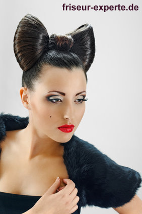 Lady Gaga Schleife Versus Minnie Maus Look – Bow Hair Frisur