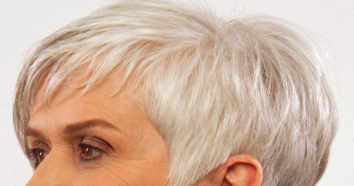 Graue Haare Kurzhaarfrisuren 2020 Frech Grau