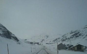 Schnee in St. Moritz