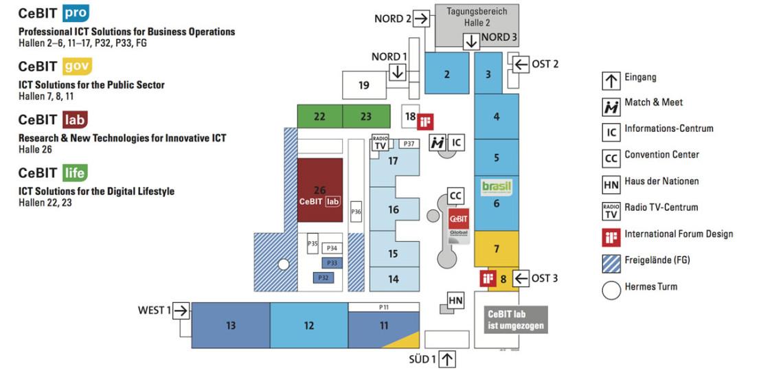 CEBIT 2012 Hallenplan
