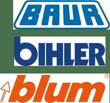 Logo Baur, Otto Bihler, Blum