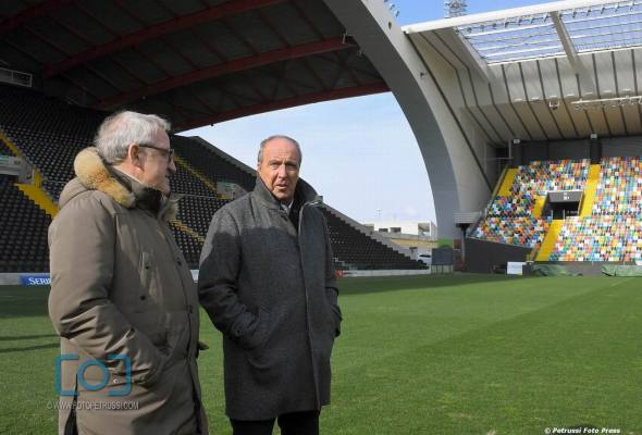 Il CT Ventura in visita all'Udinese
