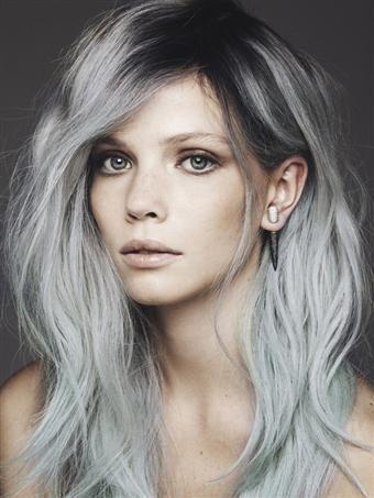 moderne sive nijanse frizure