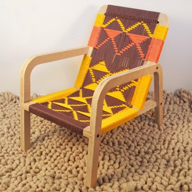 Macramé Palapa Lounge Chair by Pacific Wonderland