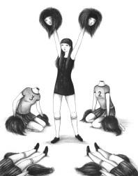 I'm sorry cheerleader – penna bic su carta, 2012 © Virginia Mori