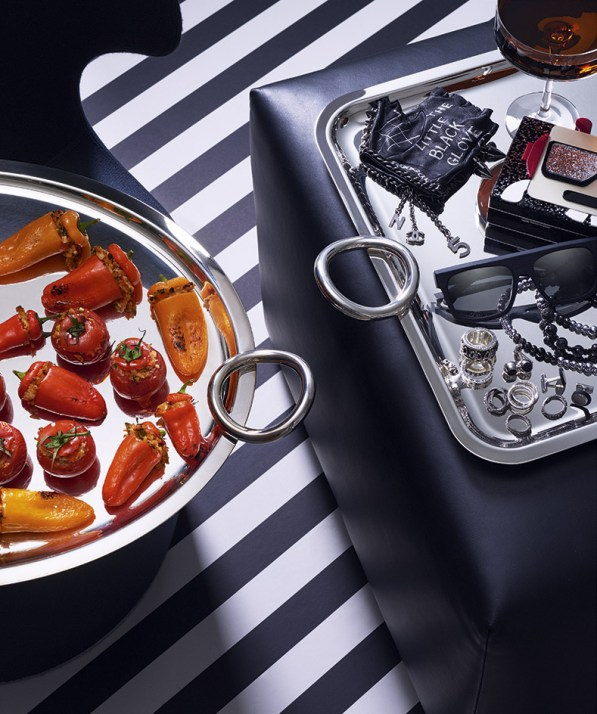 Karl Lagerfeld, stuffed peppers and tomatoes © Wallpaper*