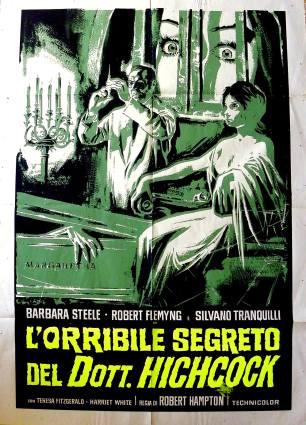 """""""L'orribile segreto del Dott. Hichcock"""" di Riccardo Freda, 1962 artwork: Sandro Symeoni (fonte: facebook.com/SandroSymeoni)"""