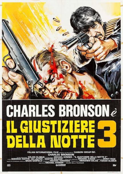 """""""Il giustiziere della notte 3"""" di Michael Winner, 1985 artwork: Sandro Symeoni (fonte: facebook.com/SandroSymeoni)"""