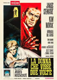 """""""La donna che visse due volte"""" di Alfred Hitchcock, 1959 artwork: Sandro Symeoni (fonte: facebook.com/SandroSymeoni)"""
