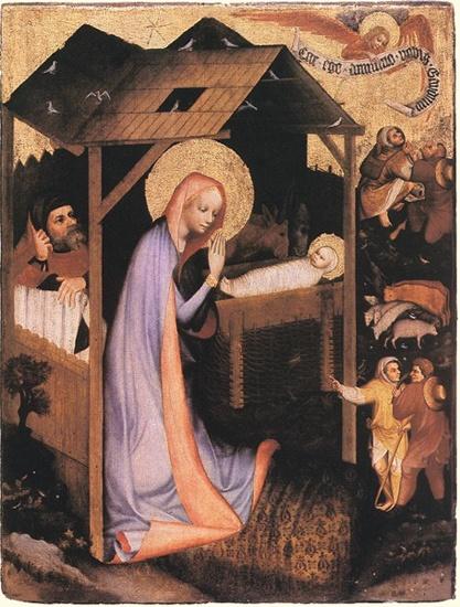 Master of Trebon, The Adoration Of Jesus, circa 1380 .