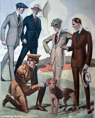 Vintage Suit Catalog -1918. Via Pinterest.