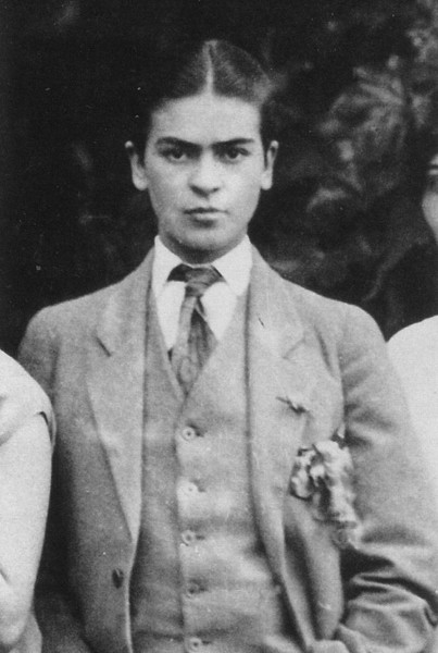 Frida Kahlo, 1926, photo by Guillermo Kahlo