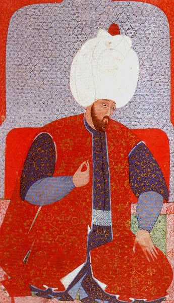 Ottoman miniature of Emperor Suleiman from during his reign.
