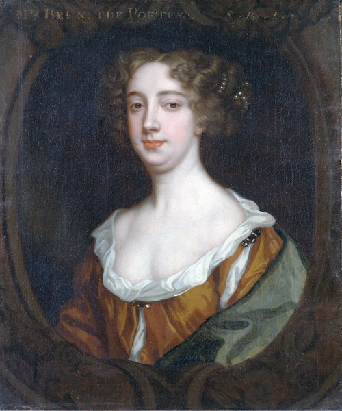 Aphra Behn, 1670, by Peter Lely