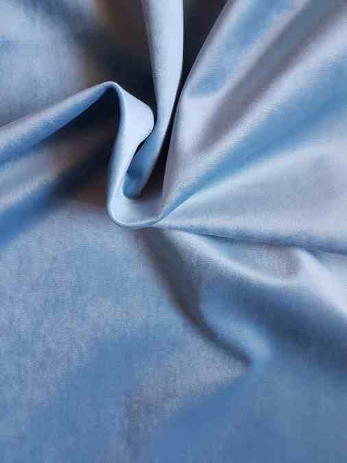 Polsterstoff Velour blau