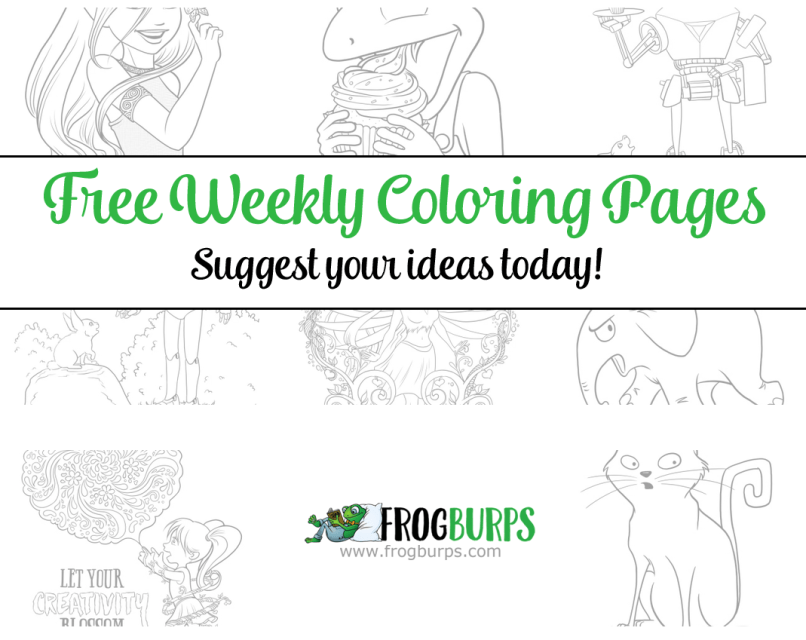Free Weekly Coloring Pages by Frogburps