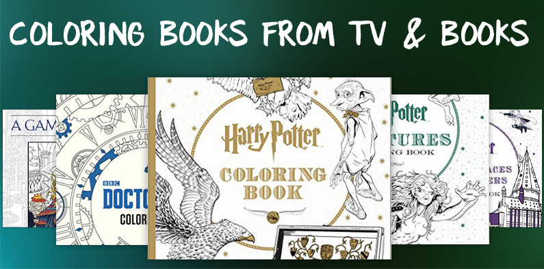 6 Coloring Books From TV & Books