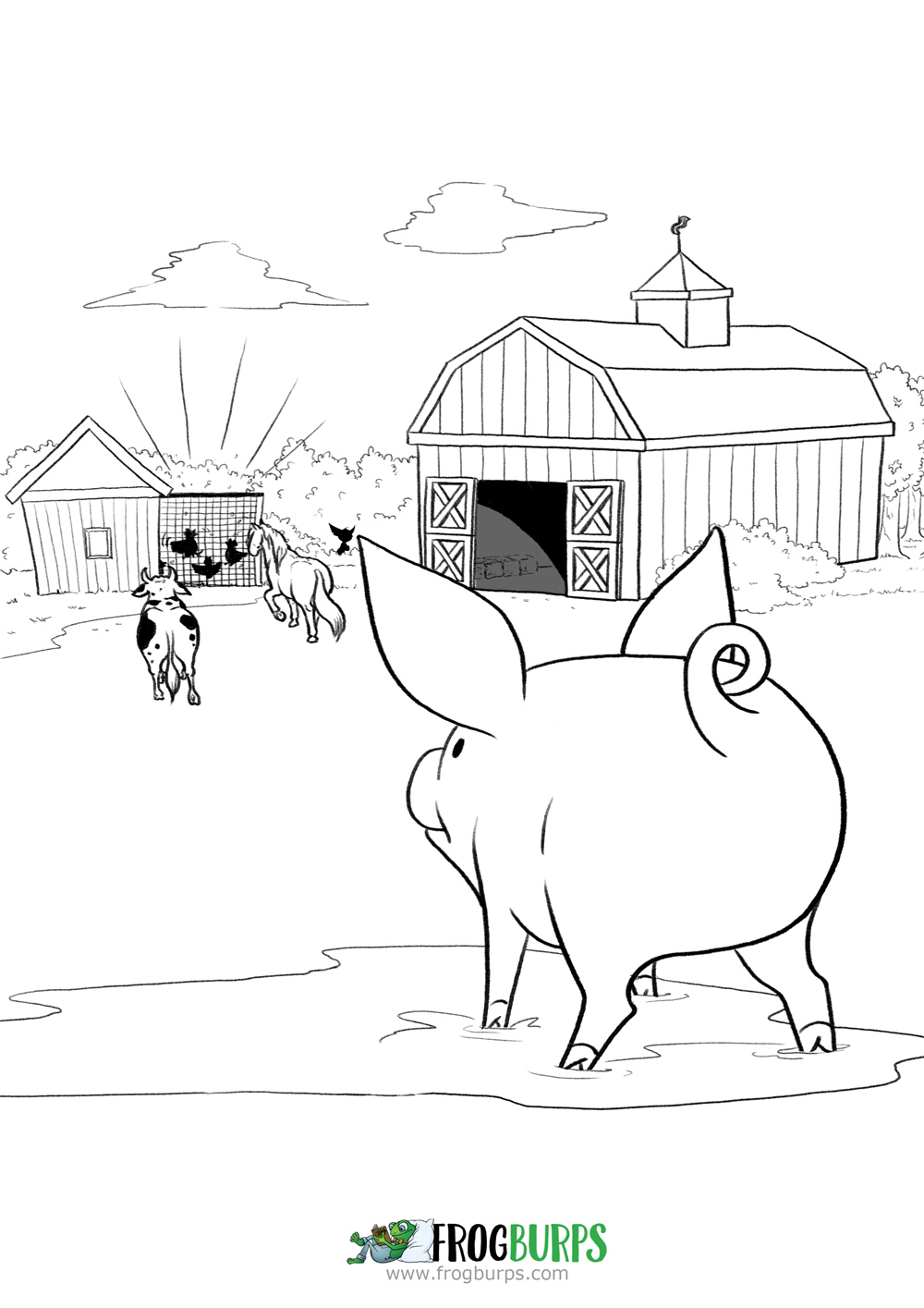 Goblin & Pig | Coloring Page