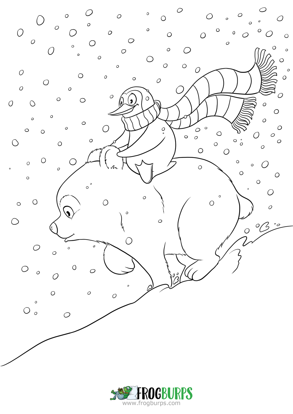 Snowfriends 2 | Coloring Page
