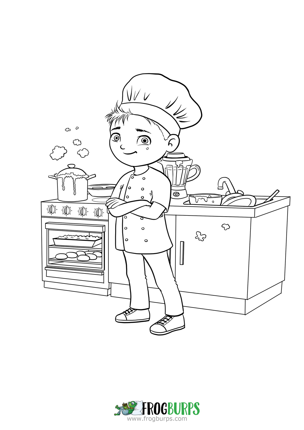 Chef | Coloring Page