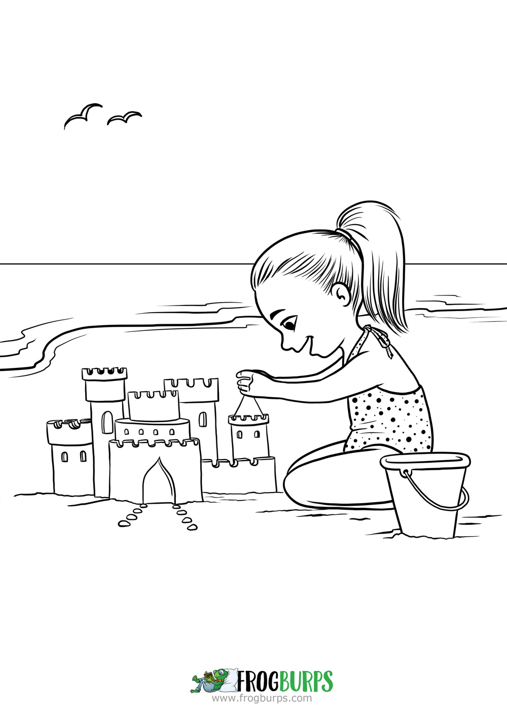 Sand Castle Coloring Page Frogburps