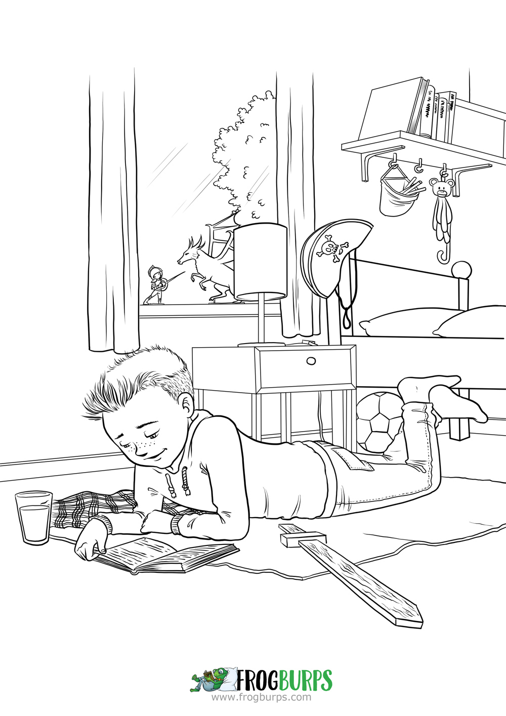 A Busy Day | Coloring Page