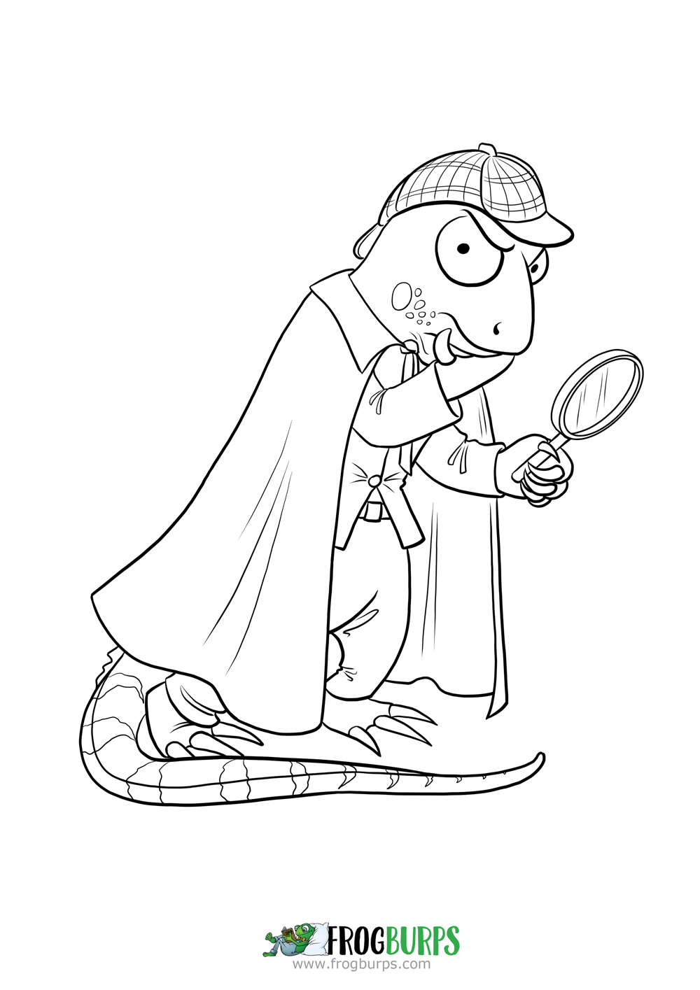 Igor the investigating Iguana | Coloring Page