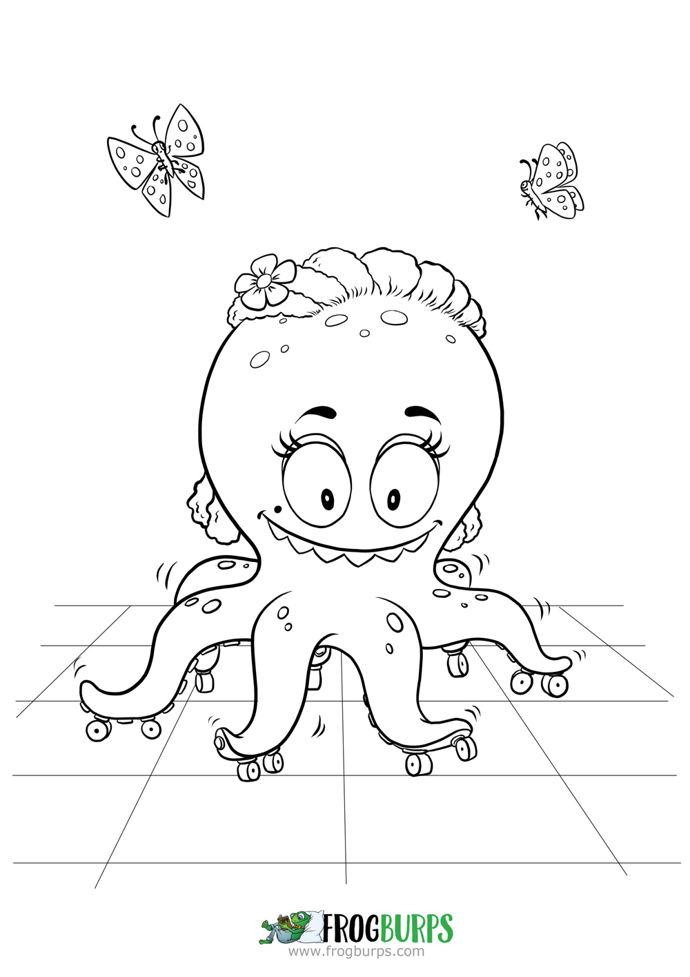 Silly Rolling Monster | Coloring Page