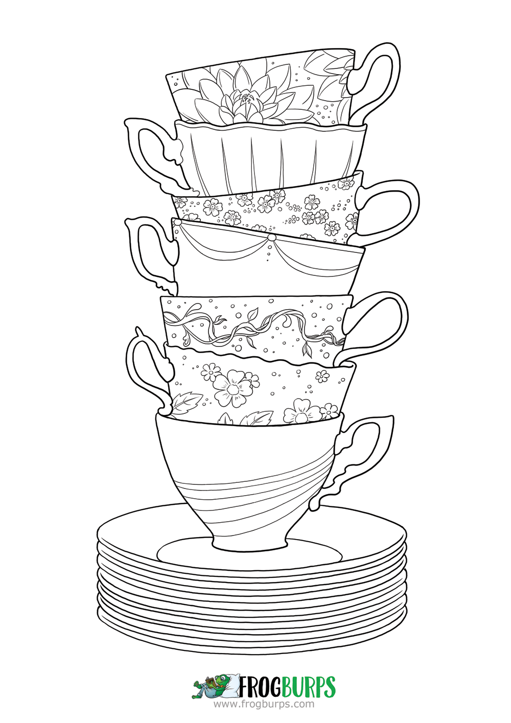 Tea Time | Coloring Page