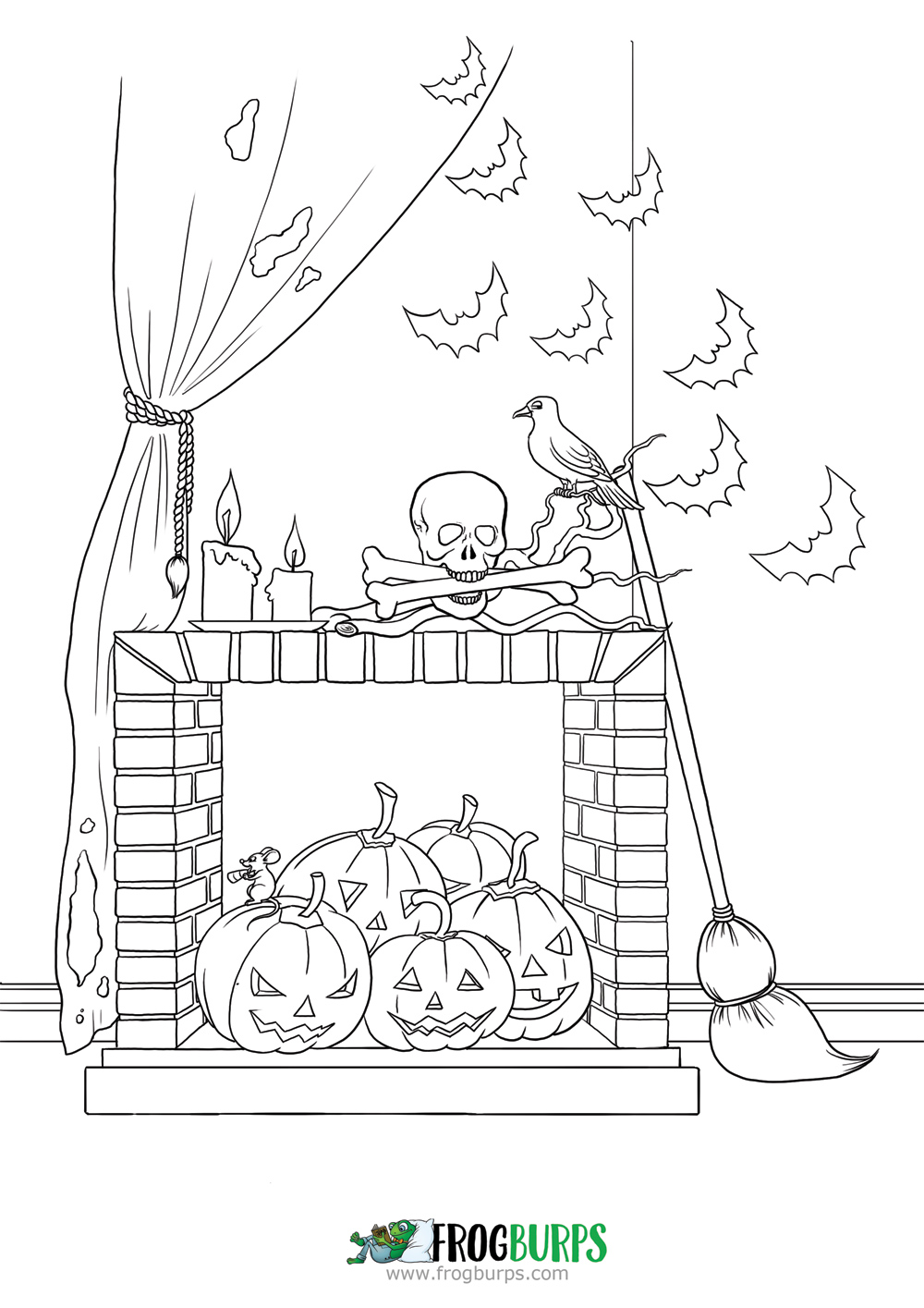 Halloween Decorations | Coloring Page