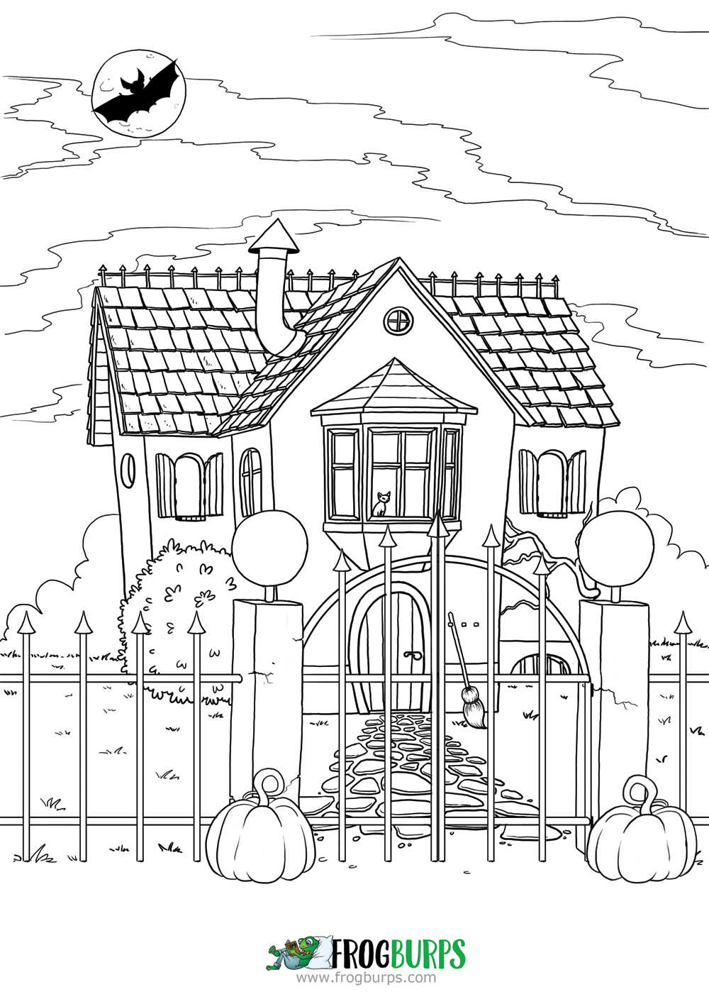 Halloween House | Coloring Page