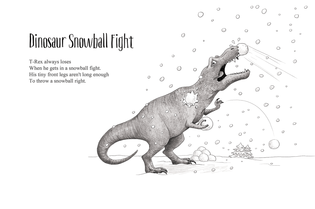 Dinosaur Snowball Fight - a short story by Patrick S. Stemp and Anita Soelver
