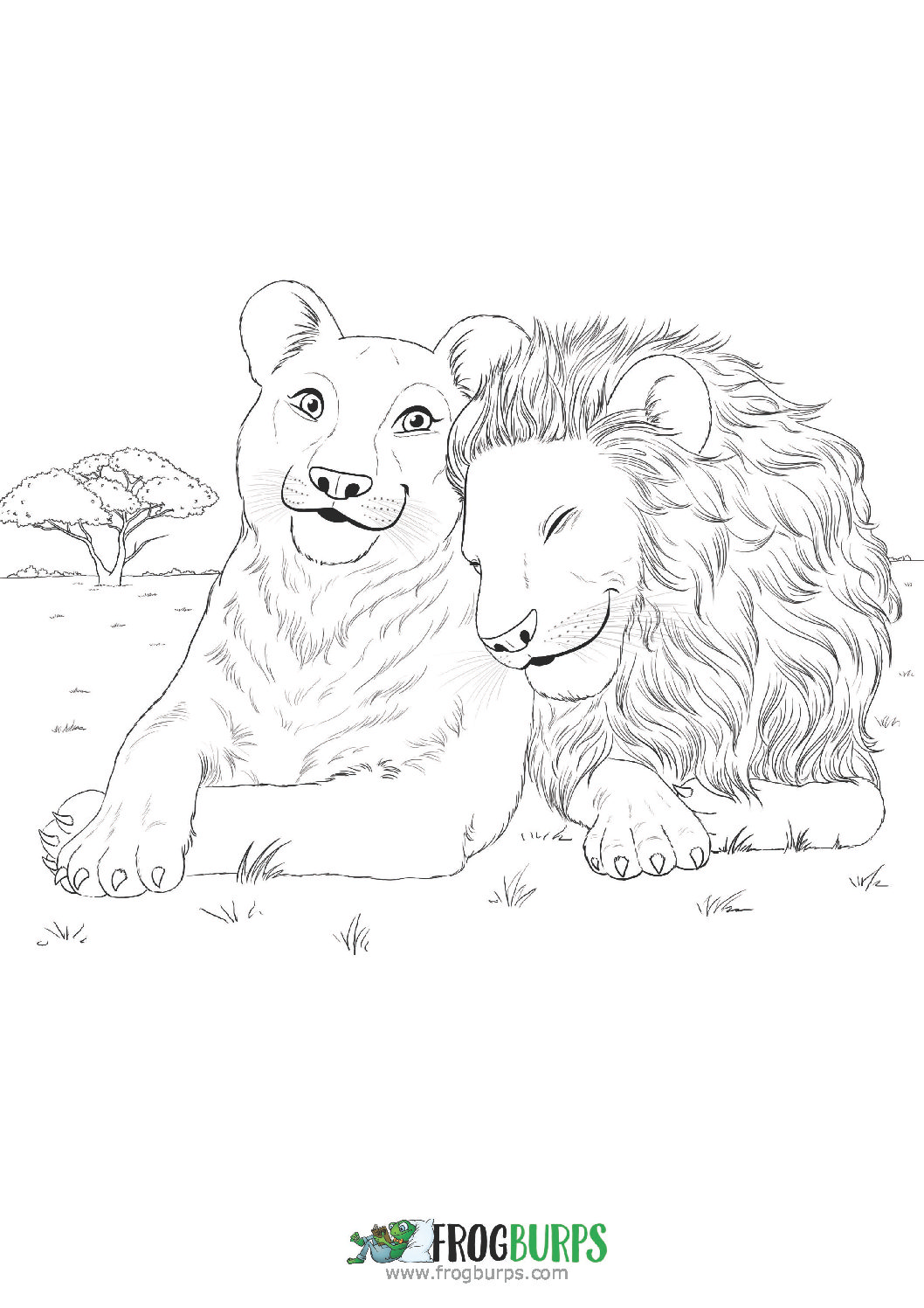 Lions | Coloring Page