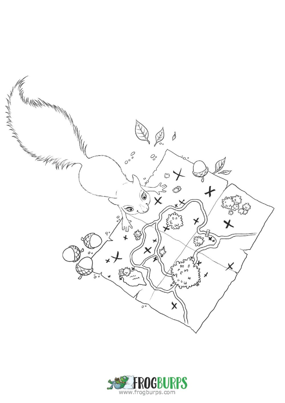 Squirrels | Coloring Page