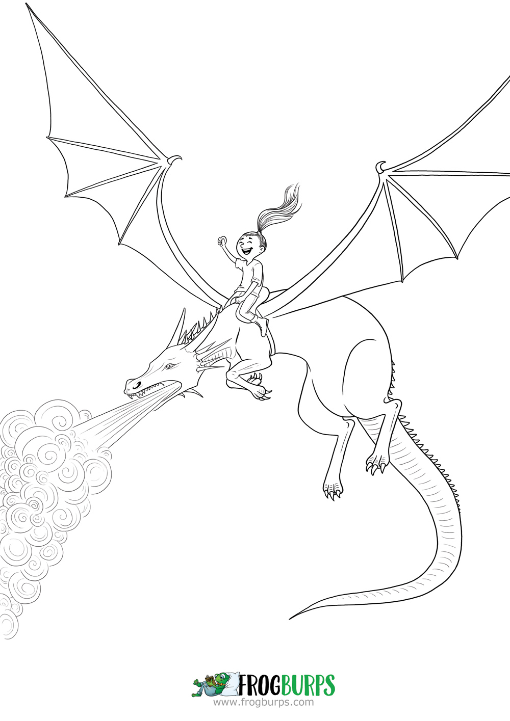 Dragon Rider | Coloring Page