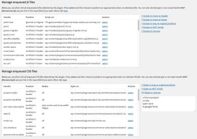 wordpress optimization better wordpress minify manage enqueued files