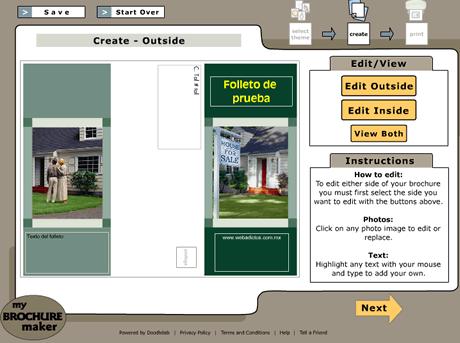 crear tripticos Crear tripticos en linea con My Brochure Maker