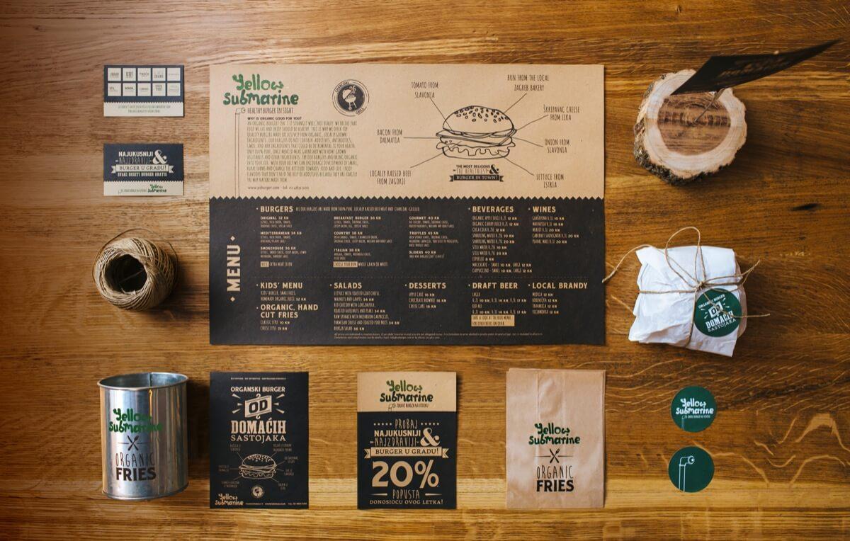 Branding para un restaurante de hamburguesas organicas