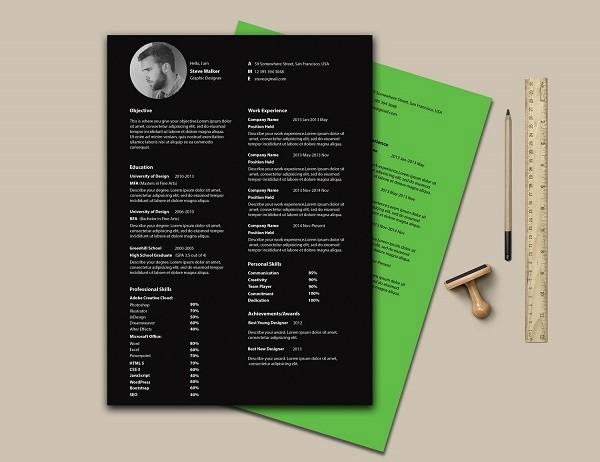 Template Para Curriculum Vitae Estilo Minimalista Frogx