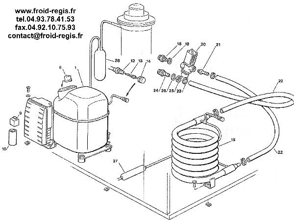 Schaltplang Flake Ice Machine