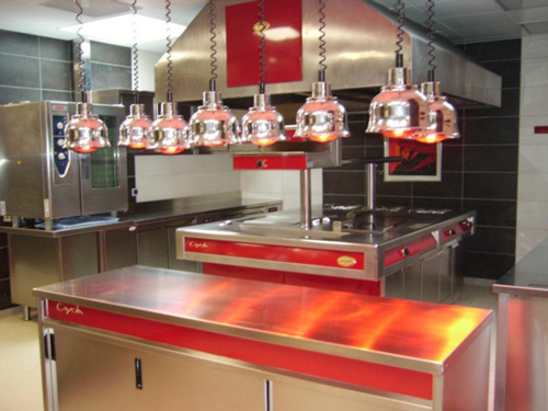 lampe chauffante cuisine professionnelle