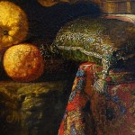 """Close-up of """"Lemons and Violin"""" by Franceso Fieravino."""