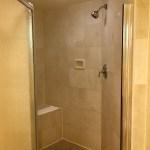 Open shower door.